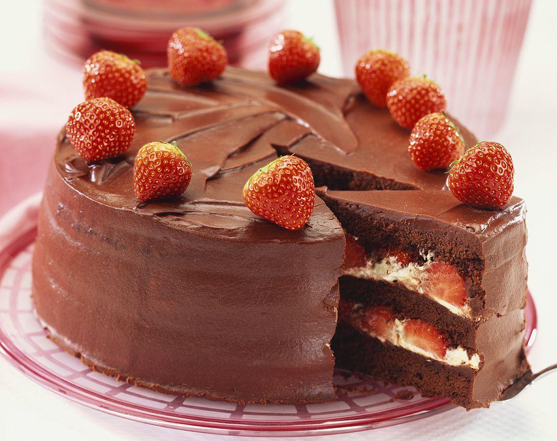 Schokoladentorte Mit Erdbeeren Rezept Eat Smarter